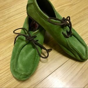 Lucky Brand green loafer style shoes